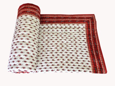 Artisan Creation Floral Single Quilts & Comforters Red, White