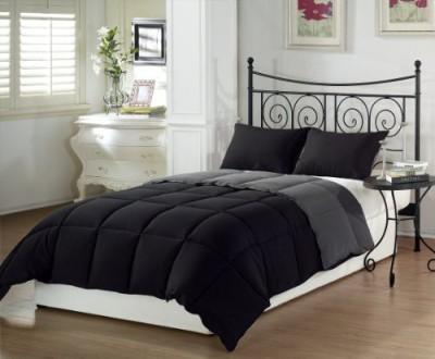 Chezmoi Collection Plain Black Grey