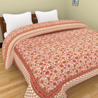 Shra Floral Double Quilts & Comforters Pink, Red