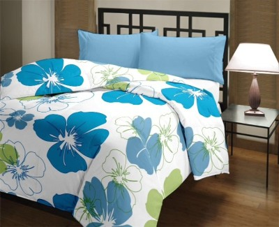 Comfylite Floral Single Quilts & Comforters Blue and Green