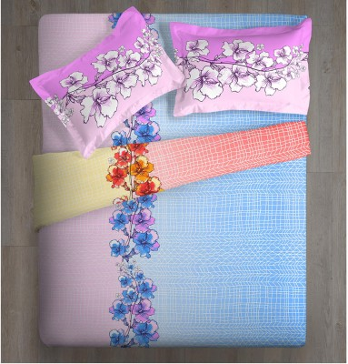 Spaces by Welspun Abstract Double Quilts & Comforters Blue, Pink