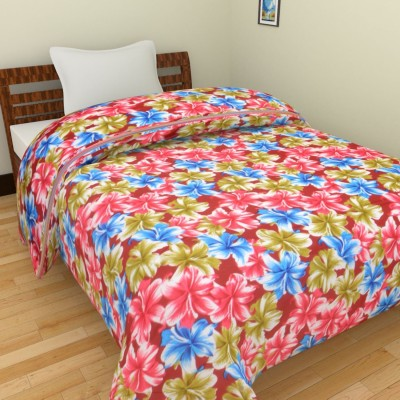 Ridan Floral Single Quilts & Comforters Pink, Maroon, Green, Blue, White
