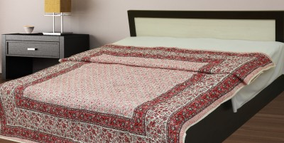 jaipurprint Floral King Quilts & Comforters White