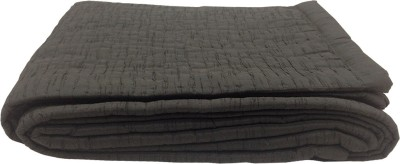 Milano Home Geometric Single Quilts & Comforters Charcoal