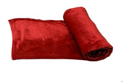 Tima Plain Single Blanket Red