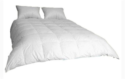 Ans Self Design Double Quilts & Comforters White