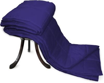 Zikrak Exim Plain Single Blanket Blue
