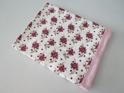 Deluxe Floral Single Top Sheet Pink, White