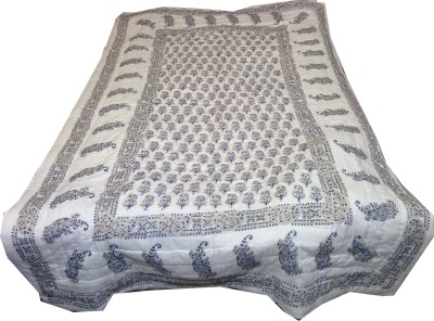 Kanthaexports Paisley Single Quilts & Comforters White