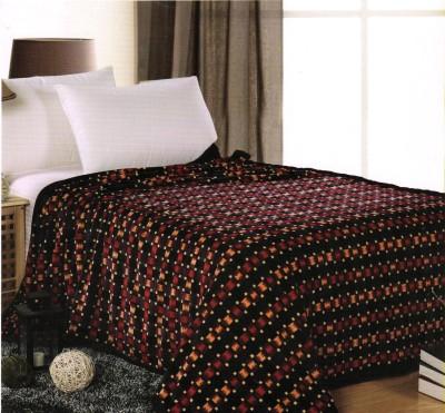 Valtellina Checkered Single Blanket Black