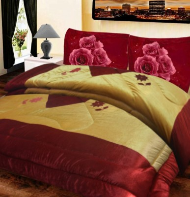 Loomkart Abstract Double Quilts & Comforters Multicolor