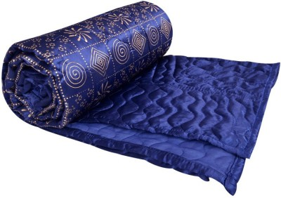 Rangasthali Geometric Double Quilts & Comforters Blue