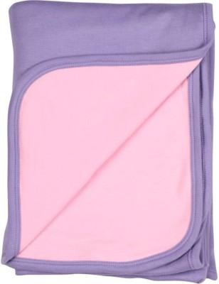 Morisons Baby Dreams Plain Single Hooded Baby Blanket Pink