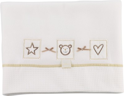 Lollipop Lane Animal Crib Blanket Beige