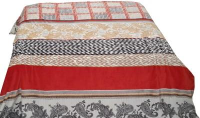 Valtellina Paisley Double Blanket Red