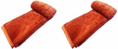 Saksham Abstract Single Blanket Orange