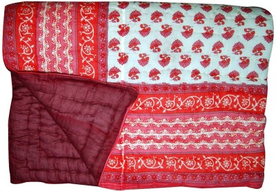 Sellstra Floral Double Quilts & Comforters Red