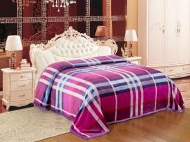 Signature Striped Single Blanket Multicolour(Coral Blanket, 1 Blanket)