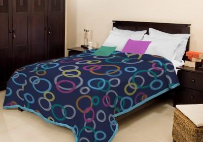 Bombay Dyeing Geometric Double Blanket Blue