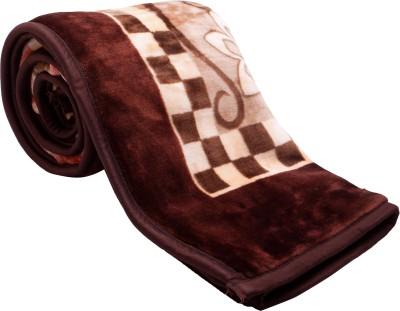 Feel Soft Abstract Single Blanket Brown, Beige