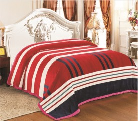 Signature Striped Double Duvet Red(Coral Blanket)
