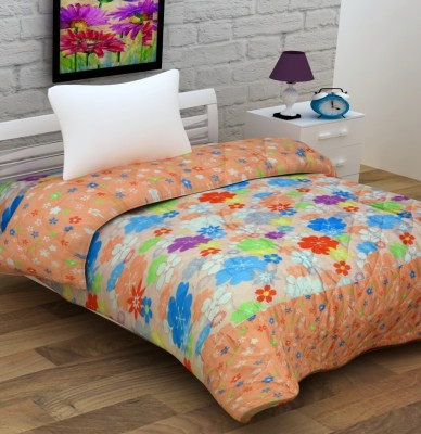Enfin Homes Floral Single Quilts & Comforters Peach