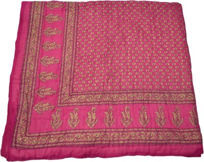 RSimpex Floral Double Quilts & Comforters Pink, Gold