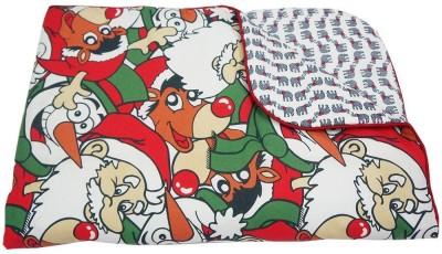 Wobbly Walk Printed Single Blanket Red