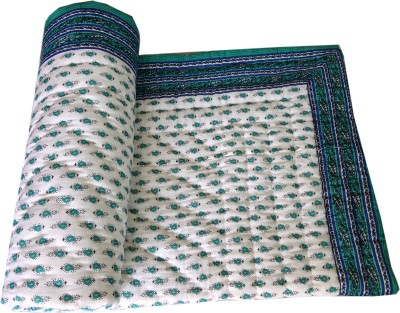 RajLaxmi Checkered Single Quilts & Comforters Multicolor