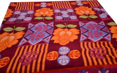 Magical Floral Single Blanket Maroon