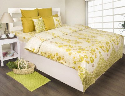 House This Floral Double Dohar Green