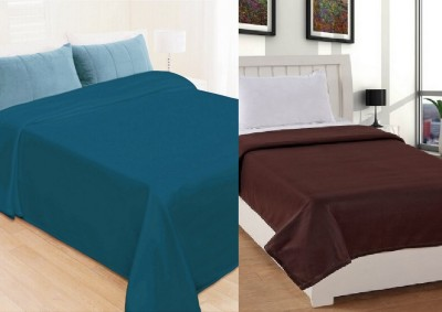 Shopgalore Plain Single Blanket Multicolor
