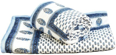 Me Home Damask Double Quilts & Comforters White and Blue