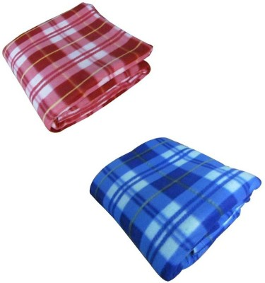 Magical Checkered Single Blanket Red, Blue