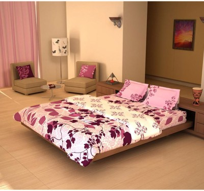House This Floral Double Quilts & Comforters Purple