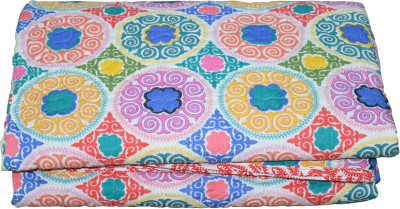 Rajcrafts Abstract Double Blanket Multicolor