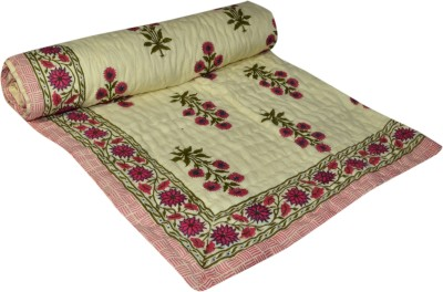 Raj Amer Craft Floral Single Quilts & Comforters Maroon