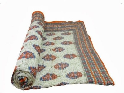 Bagrastore Floral Double Quilts & Comforters Orange
