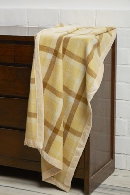 Raymond Home Checkered Single Quilts & Comforters Yellow