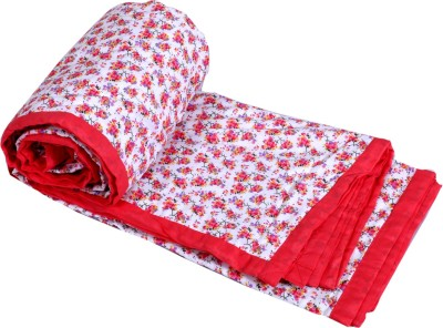 IndiWeaves Floral Double Dohar Red
