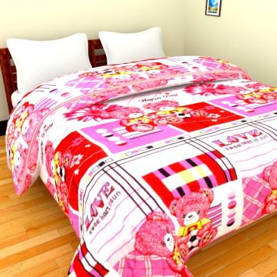 The Chaddar Cartoon Double Blanket Multicolor