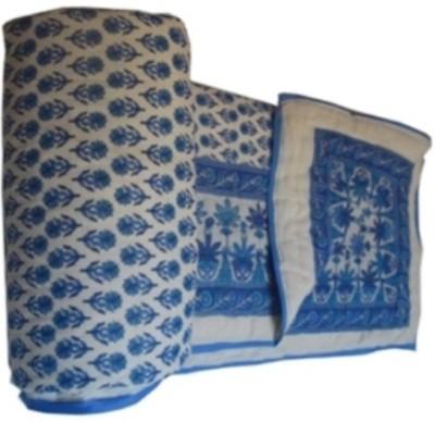 Sparkle Floral Double Quilts & Comforters Blue