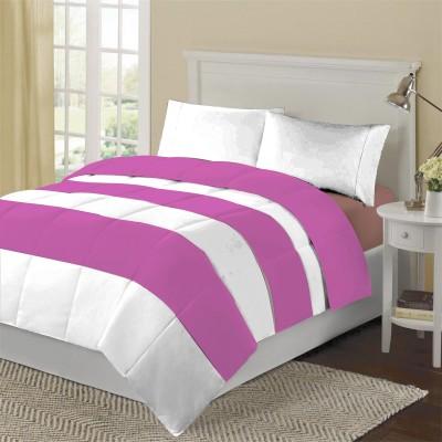 KIAANA Striped Double Blanket Lilac