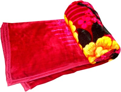 SKYTEX Floral King Blanket Red
