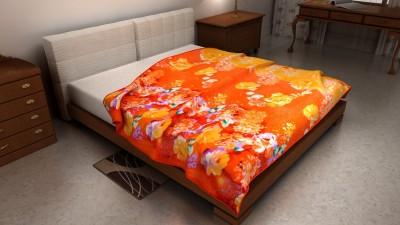 The Home Ingredients Floral Double Blanket Orange