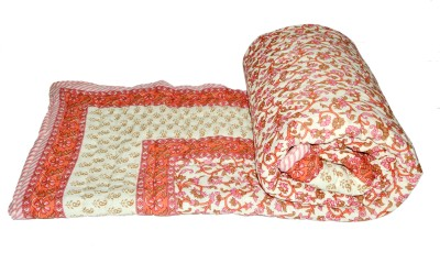 Raj Amer Craft Floral Double Quilts & Comforters Red