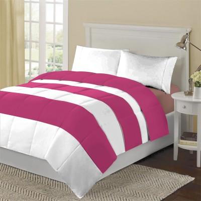 KIAANA Striped Double Blanket Pink