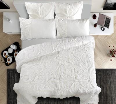 Shahenaz Home Shop Plain King Quilts & Comforters White