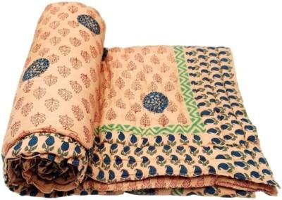 Ruchiworld Floral Single Quilts & Comforters Light Orange