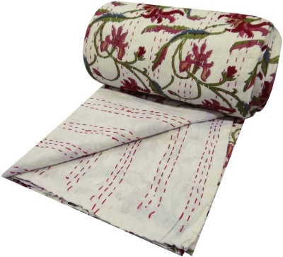 HAG Art and Craft Floral Double Quilts & Comforters White